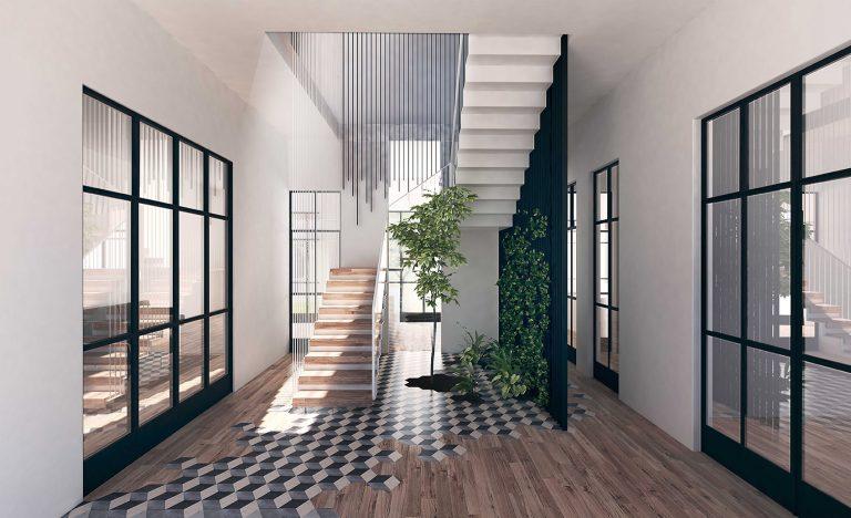 House Vilanova contemporary courtyard and staircase