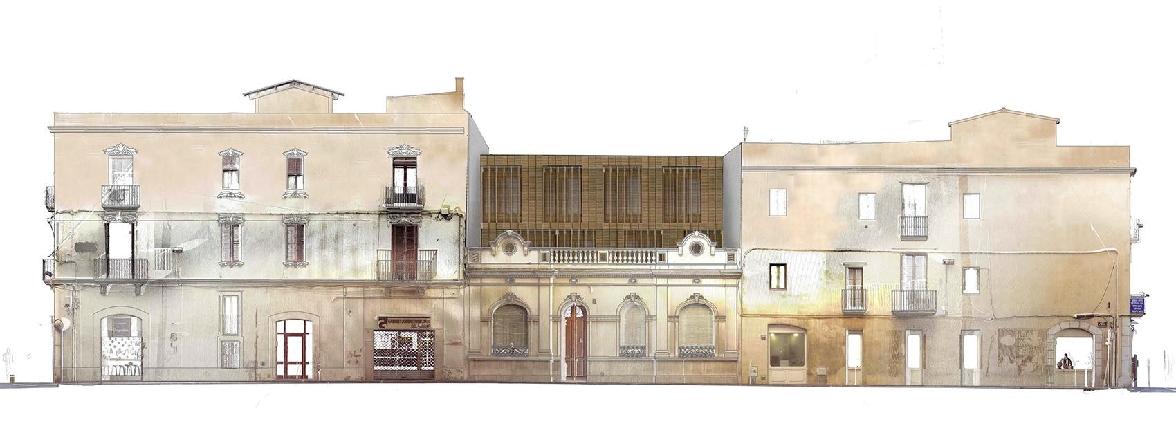 House Vilanova street facade