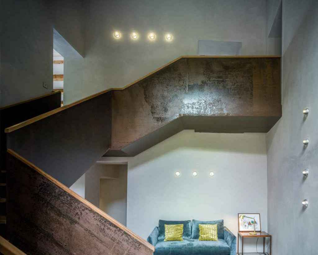 Villa CP corten steel staircase luxury farm house