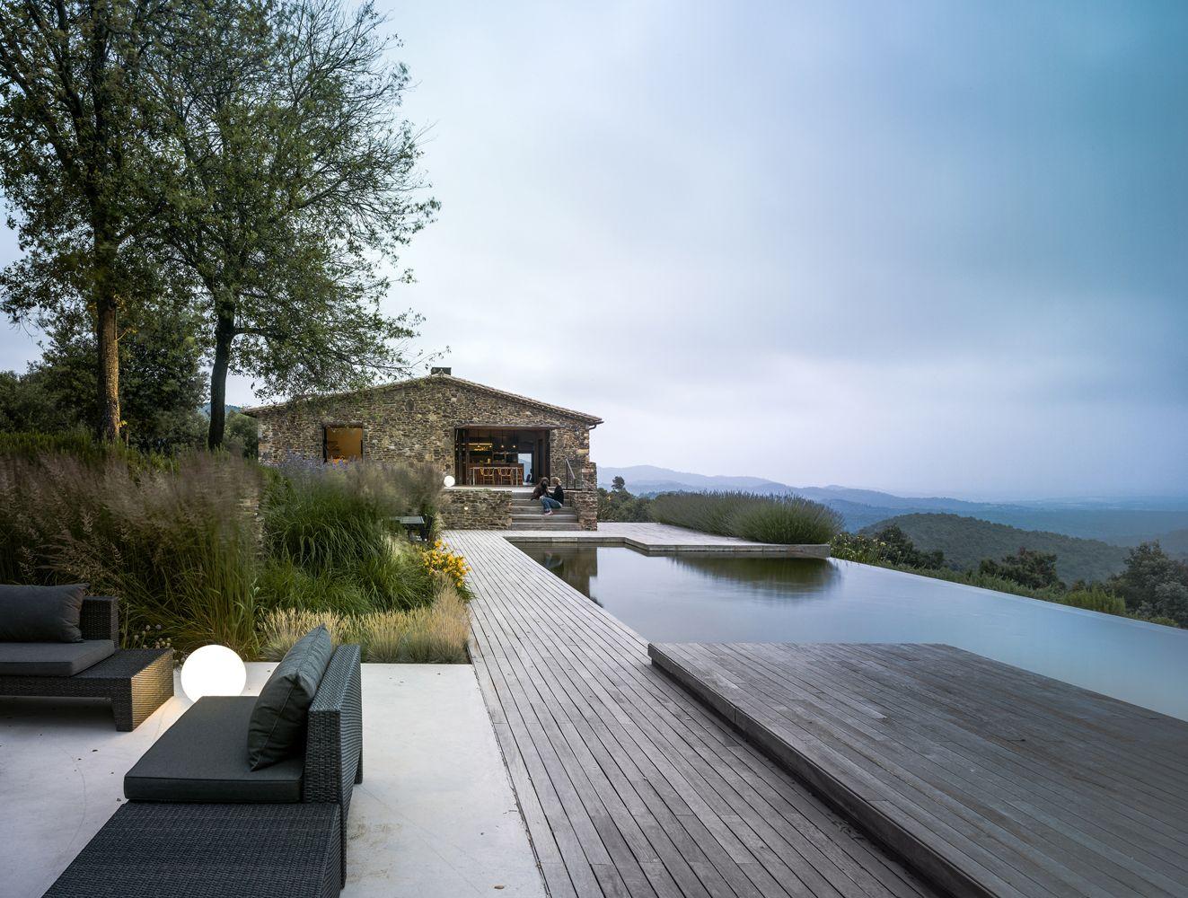 contemporary stone villa and boutique eco hotel in Girona