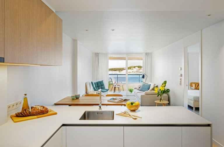 La Escala light spatious seaside apartment renovation