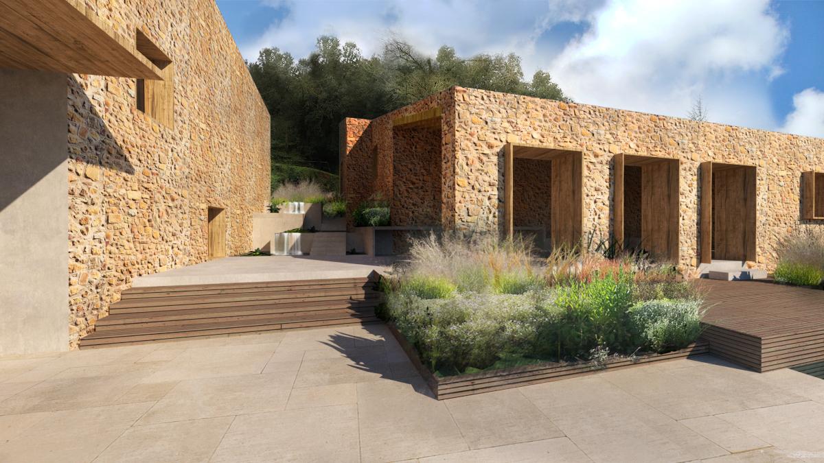 luxury stone retreat in the Pyrenees