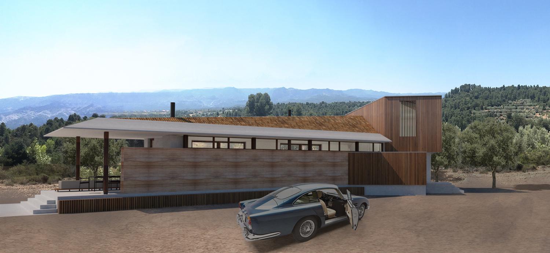 House Matarraña entrance view