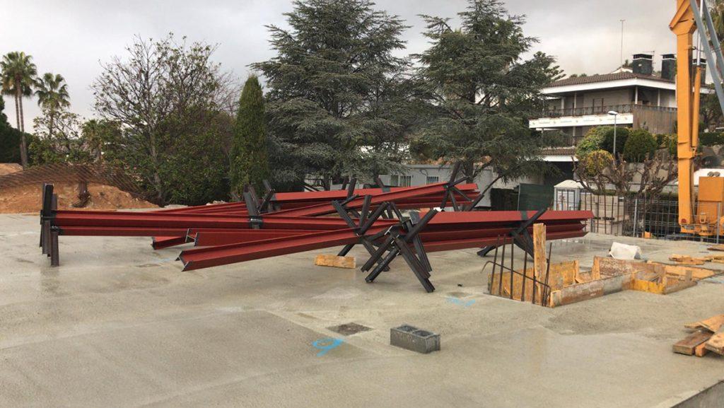 steel columns modern new build alella