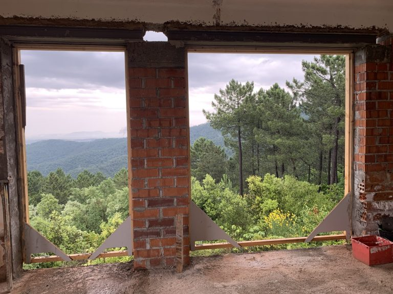 spectacular views from house renovation in Girona